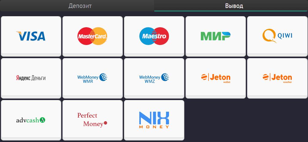 Способы оплаты и вывода средств на официальном сайте Pin Up Bet
