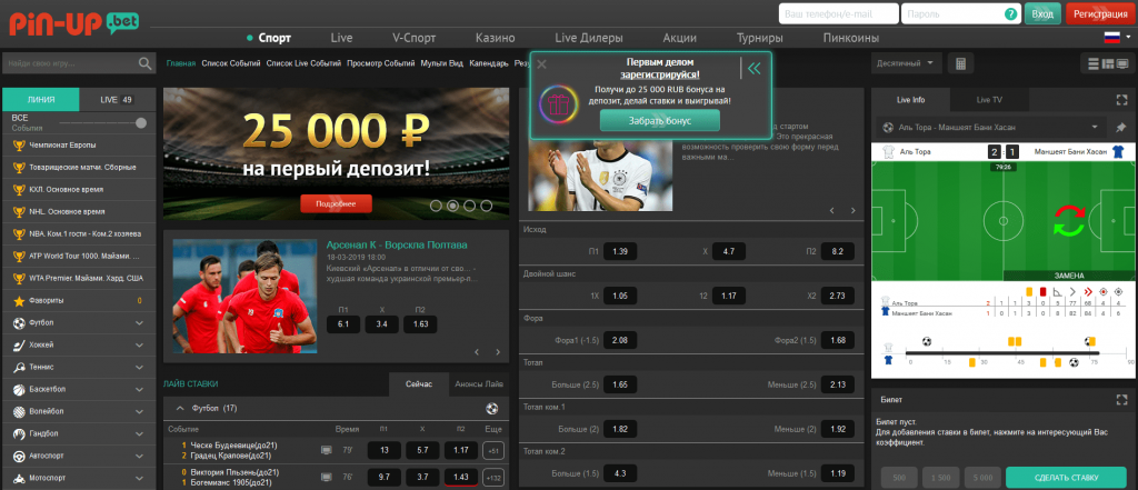 Официальный сайт Pin Up Bet